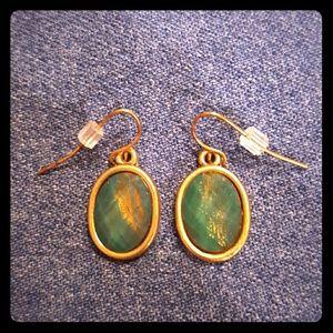 Jewelry - ❤3 for $15! Green & gold pierced earrings.